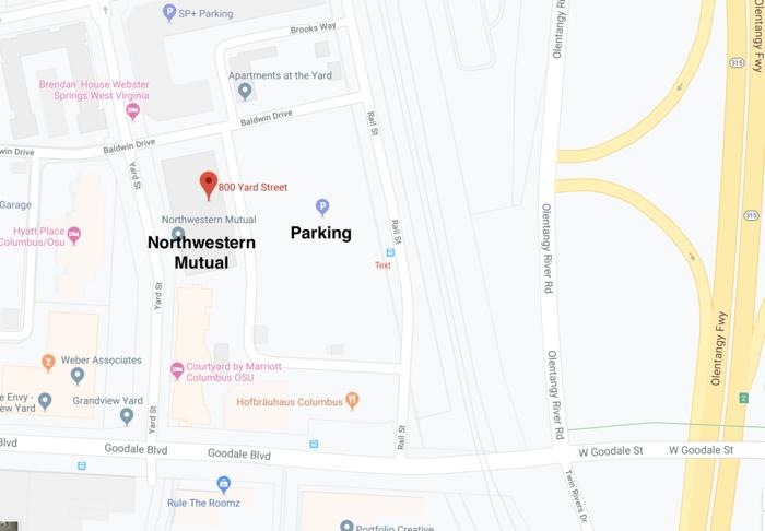 Map Columbus Grandview Yard